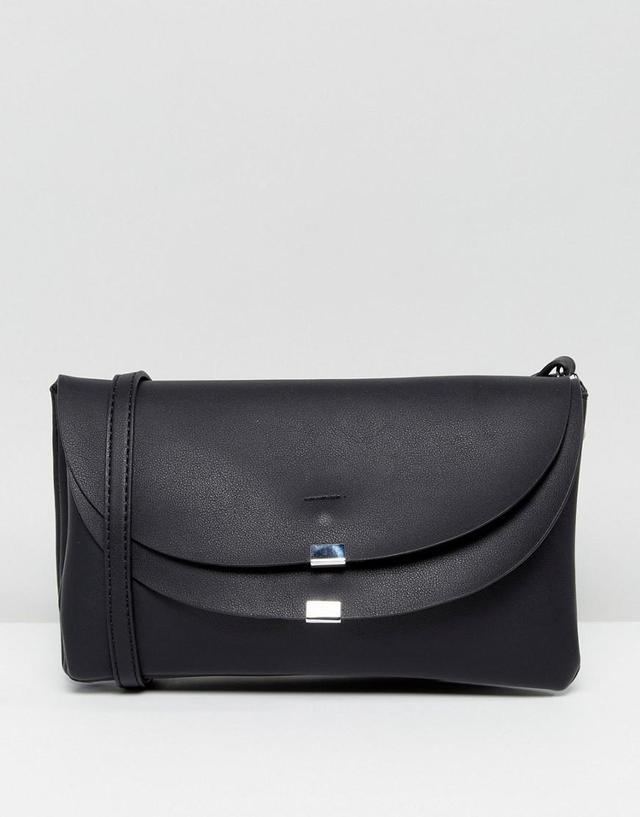 Vegan Leather Foldover Crossbody Bag