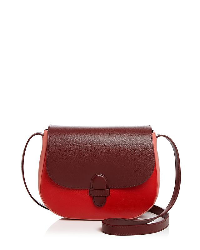 Marisa Maxi Leather and Suede Saddle Bag