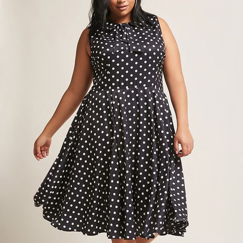 Unique Vintage Polka-Dot Dress