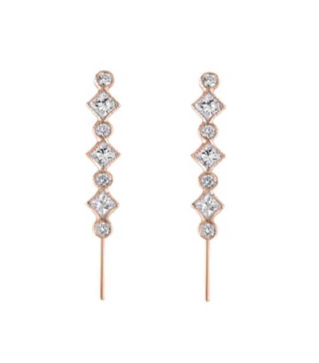 Eden Presley Diamond Pattern Ear Pin
