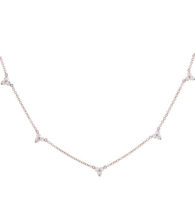 Luna Skye Triple Diamond Cluster Necklace