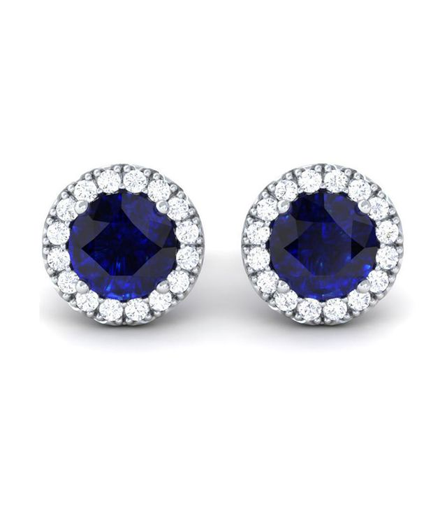 Ring Concierge Sapphire and Diamond Halo Studs