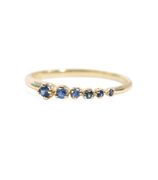 N + A Sapphire Shooting Star Ring