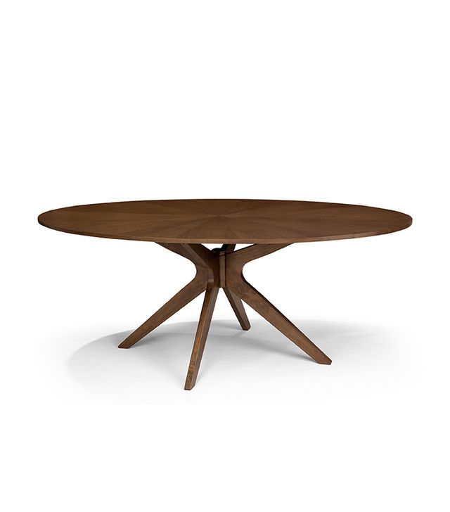 Article Conan Mid-Century Modern Oval Wood Dining Table