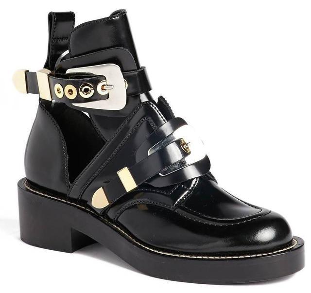Balenciaga Cutout Buckle Boots