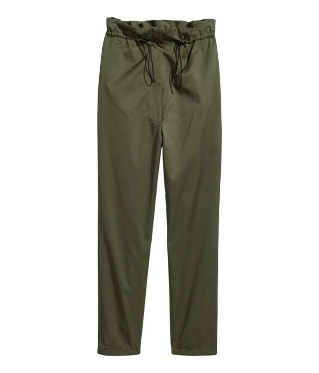 Wide-cut Drawstring Pants