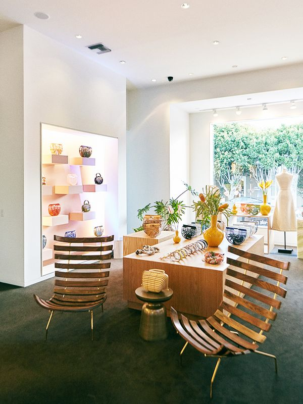The store is entirely designed by Jasmin Larian andemulates the brand's core aesthetic.