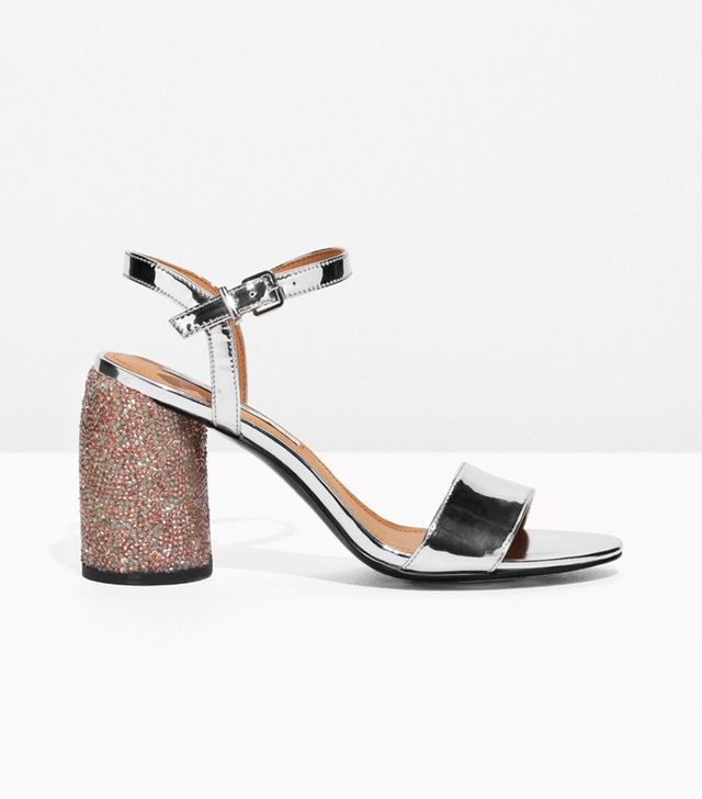 Rhinestone Heel Sandalette