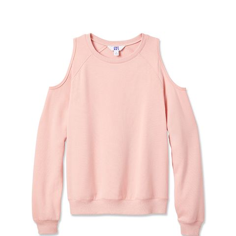 Cold Shoulder Layering Sweatshirt