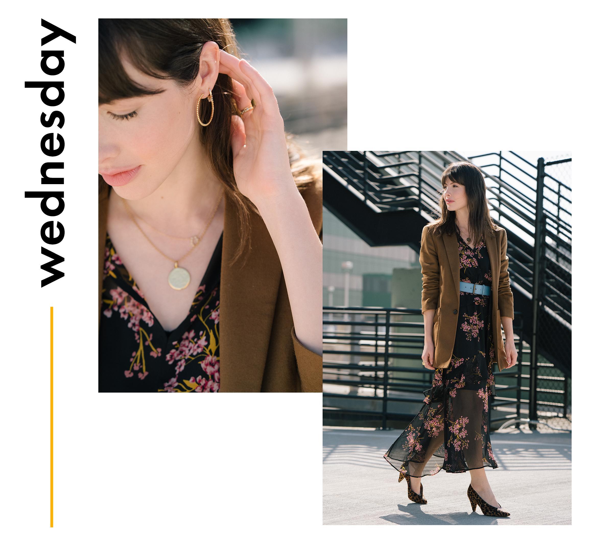 Kat Collings weekday wardrobe
