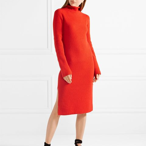 Moa Ribbed Wool and Cashmere-Blend Turtleneck Dress