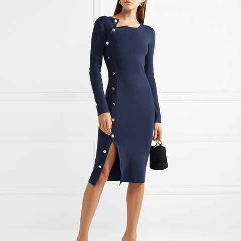 Arzel Embellished Stretch-Knit Midi Dress
