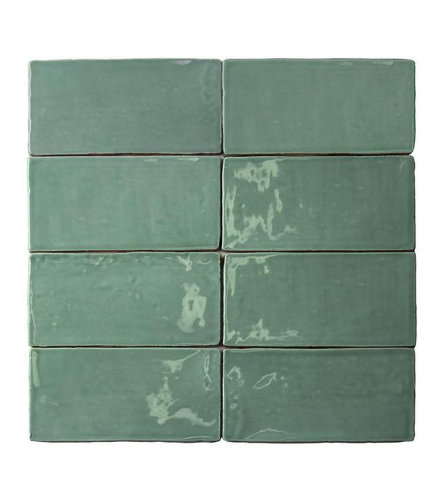 Splashback Tile Catalina Green Lake Ceramic Wall Subway Tile