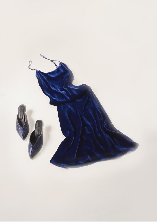 Silk Velvet Bias Dress