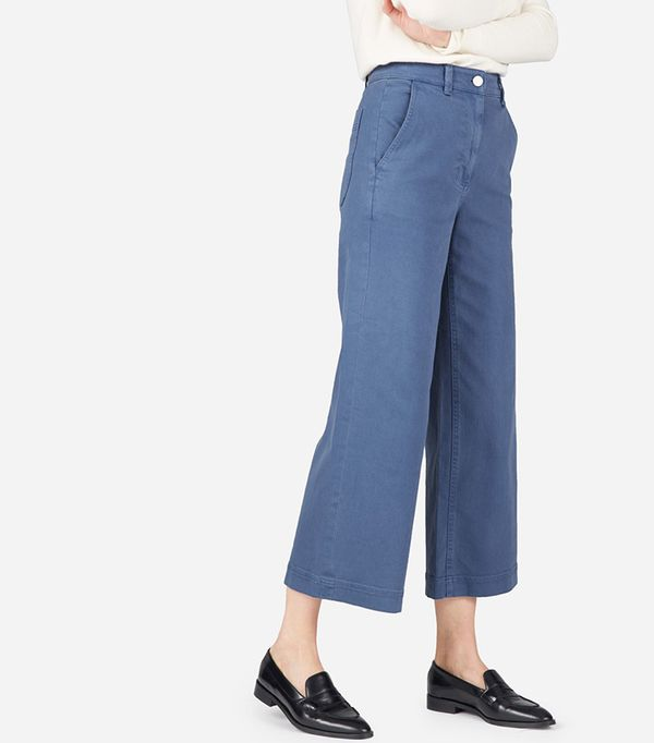 Women's Wide Leg Crop Pant by Everlane in Mid Blue, Size 10