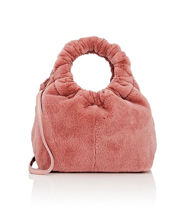Women's Double-Circle Fur Small Bag