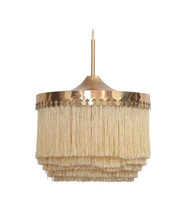 Hans-Agne Jakobsson Fringed Silk Pendant Light