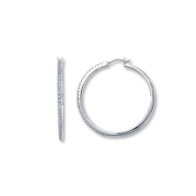 Kay Diamond Hoop Earrings