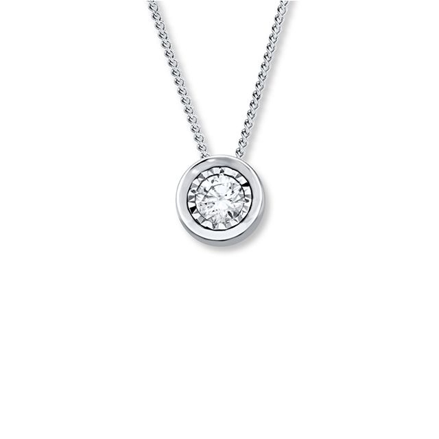 Kay Diamond Solitaire Necklace