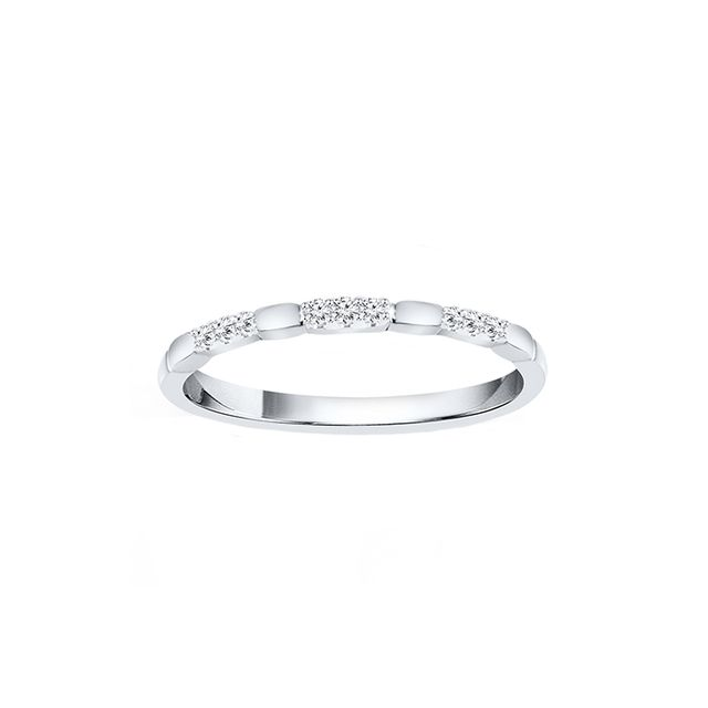 Kay Stackable Ring in White Gold