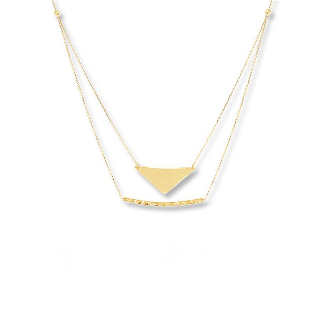 Kay Chevron Bar & Layered Necklace