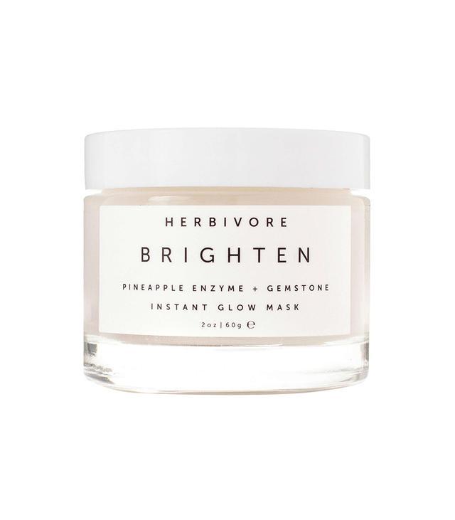 Herbivore Brighten Pineapple Enzyme + Gemstone Instant Glow Mask