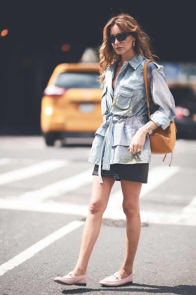 miniskirt and flats outfit
