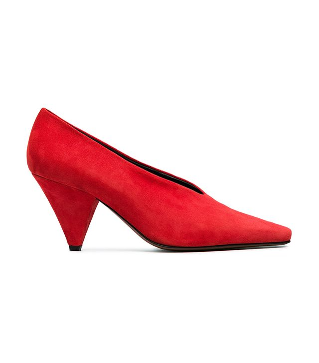 red Aunty 60 pointed toe pumps