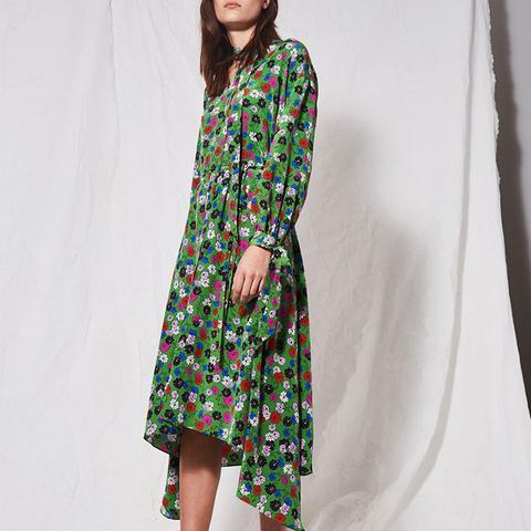 Floral Asymmetric Dress by Boutique
