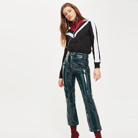 Vinyl Kick Flare Trousers