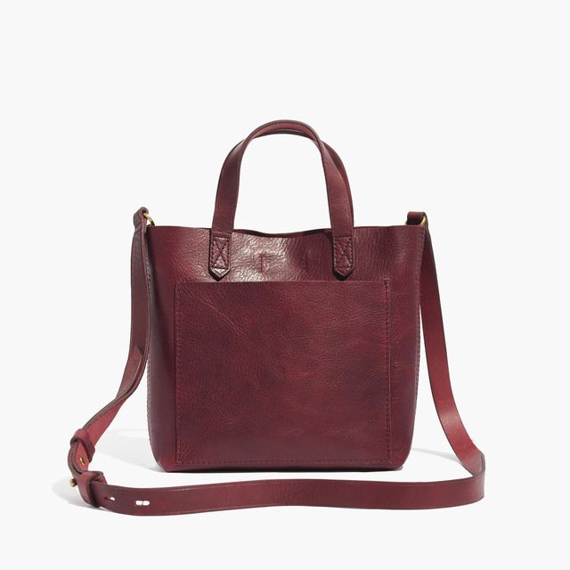 Madewell The Small Transport Crossbody Bag in Dark Cabernet