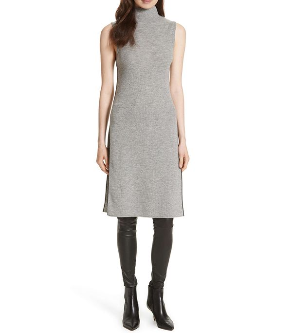 Stori Double Slit Sweater Dress