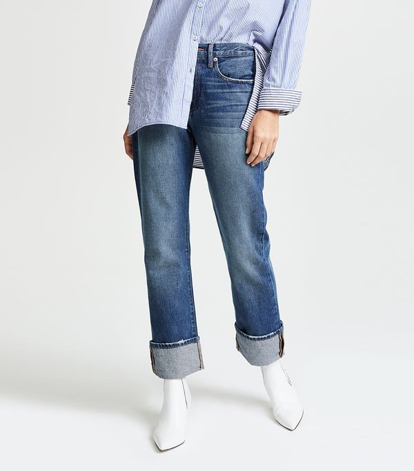 Le Oversized Cuff Jeans