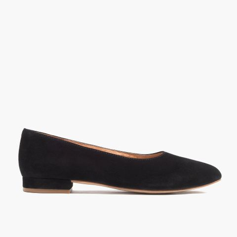 The Leia Ballet Flats in Suede