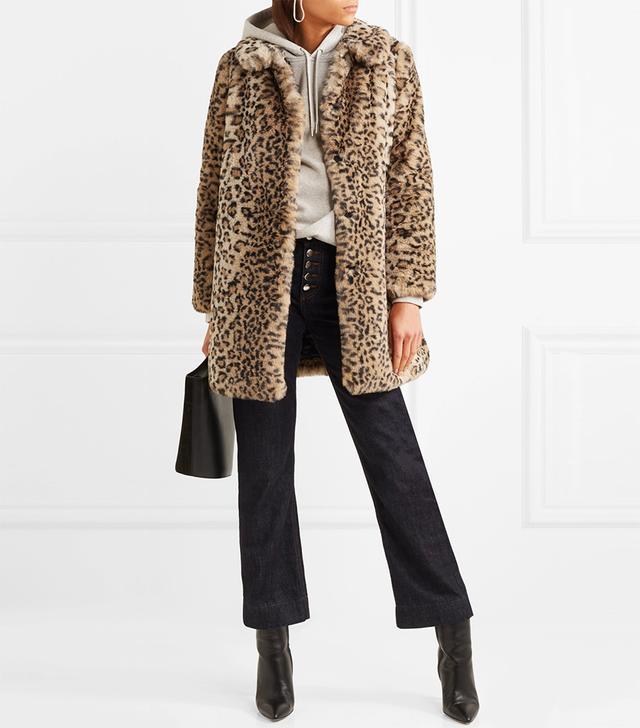 Kinsley Oversized Leopard-print Faux Fur Coat