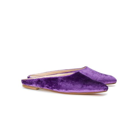 Purple Velvet Maryam Mules