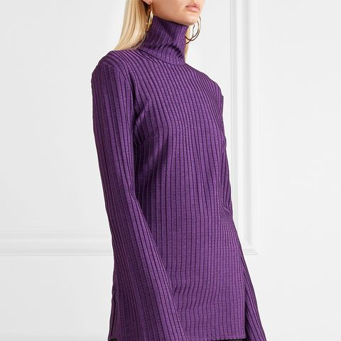 Mescaline Ribbed Stretch-Jersey Turtleneck Top
