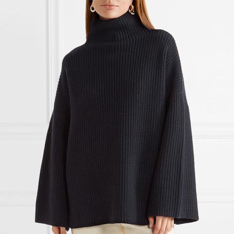 Violina Ribbed Cashmere Turtleneck Sweater