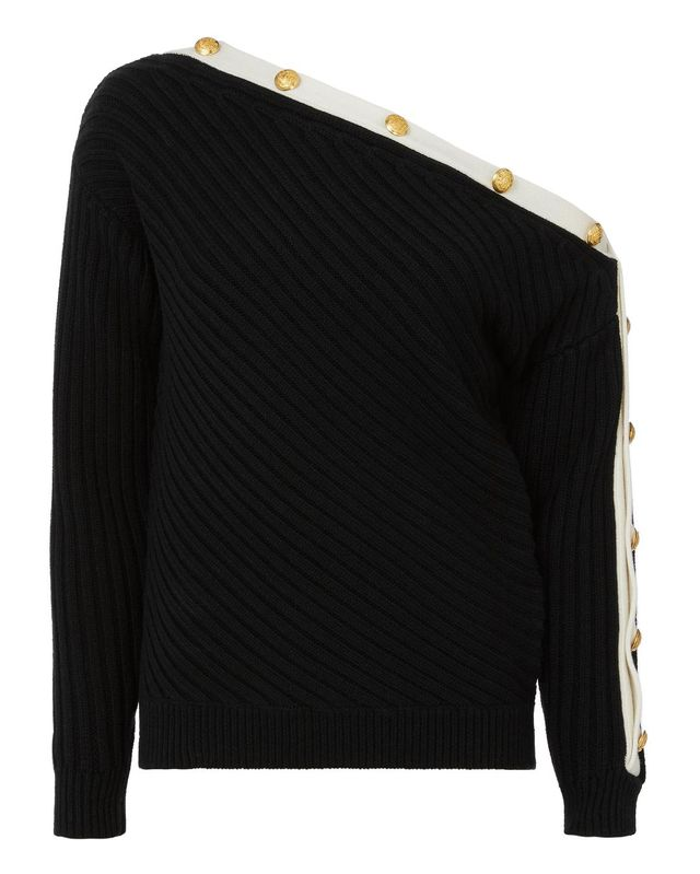 Exclusive for Intermix Crosby Off Shoulder Sweater Black P