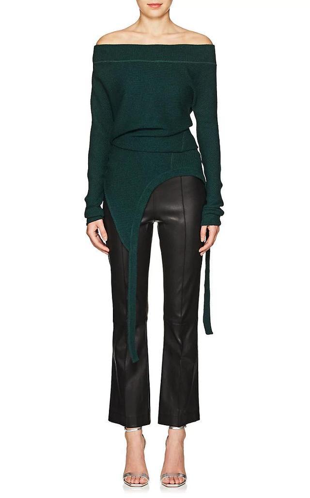 Women's Rib-Knit Wool-Blend Draped Sweater