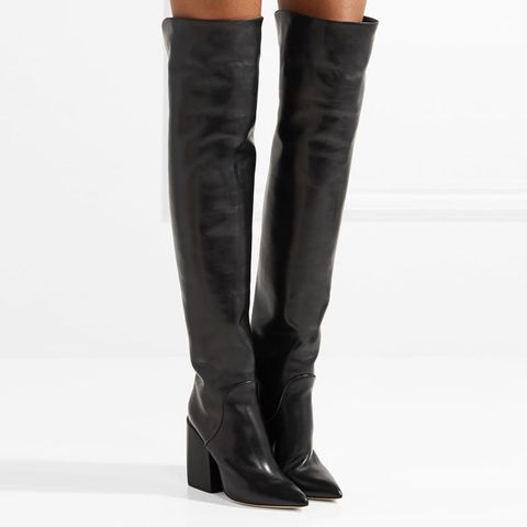Shirin Studded Leather Over-the-Knee Boots