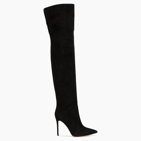 Black Suede 115 Over-the-Knee Boots