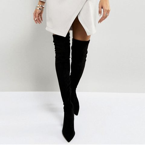 Wide Fit Pointed Over-the-Knee Boots