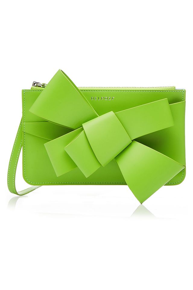 Bow Leather Clutch
