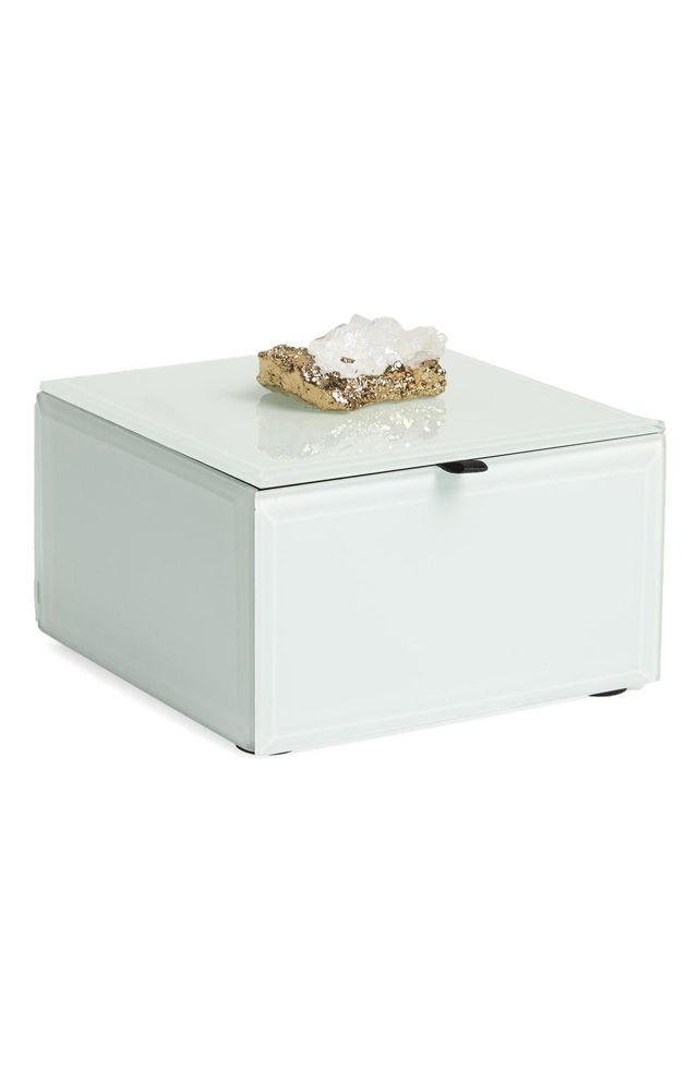 White Agate Jewelry Box -