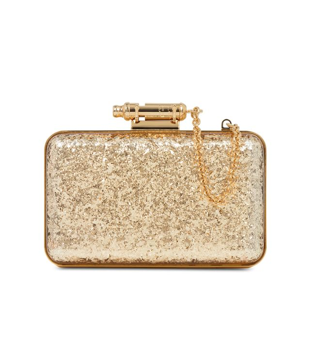 Sophie Hulme Gold Glitter Whistle Clutch