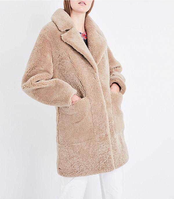 Frankie Shop Reverse Shearling Coat