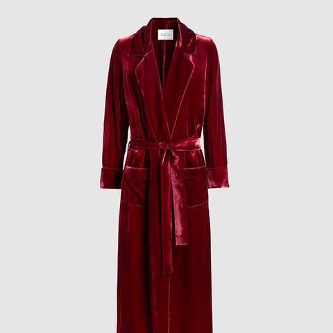 High Windsor Velvet Trench Coat
