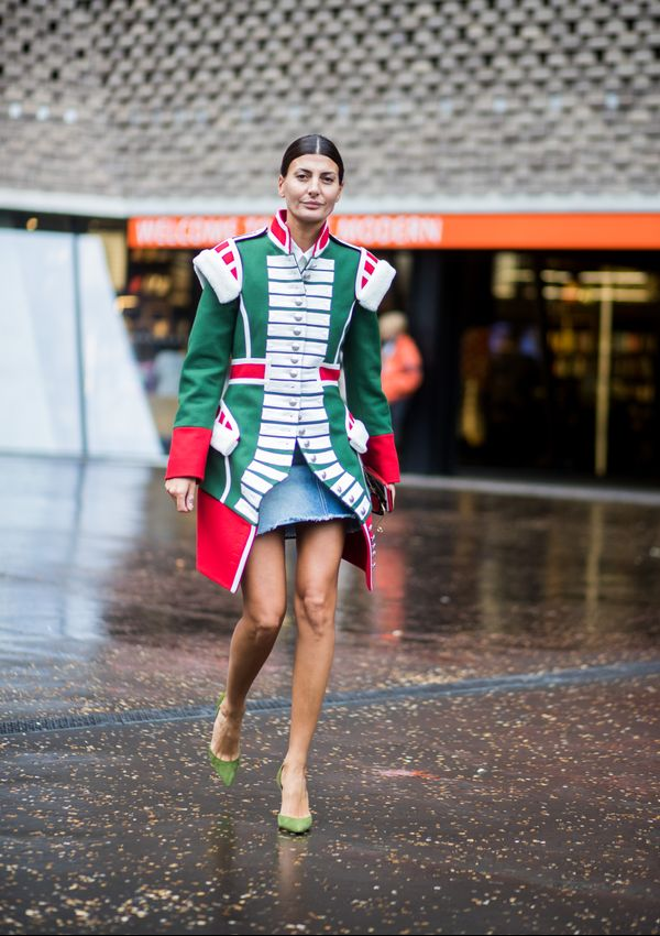 Street style Giovanna Battaglia band jacket