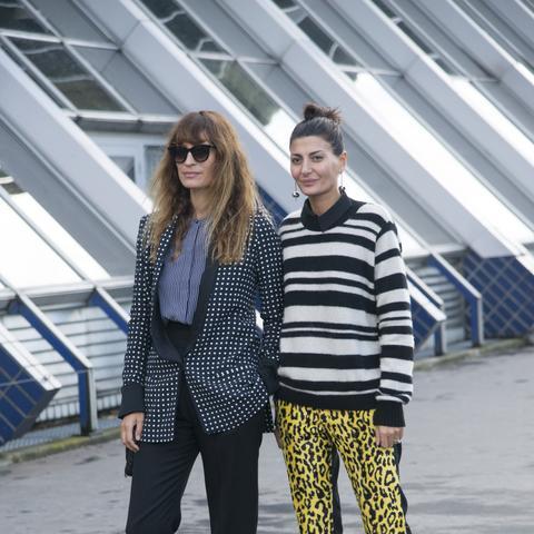 Street style neon leopard pants
